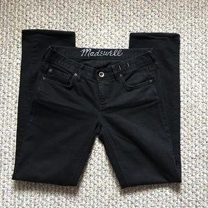 Madewell Black Straight Jeans